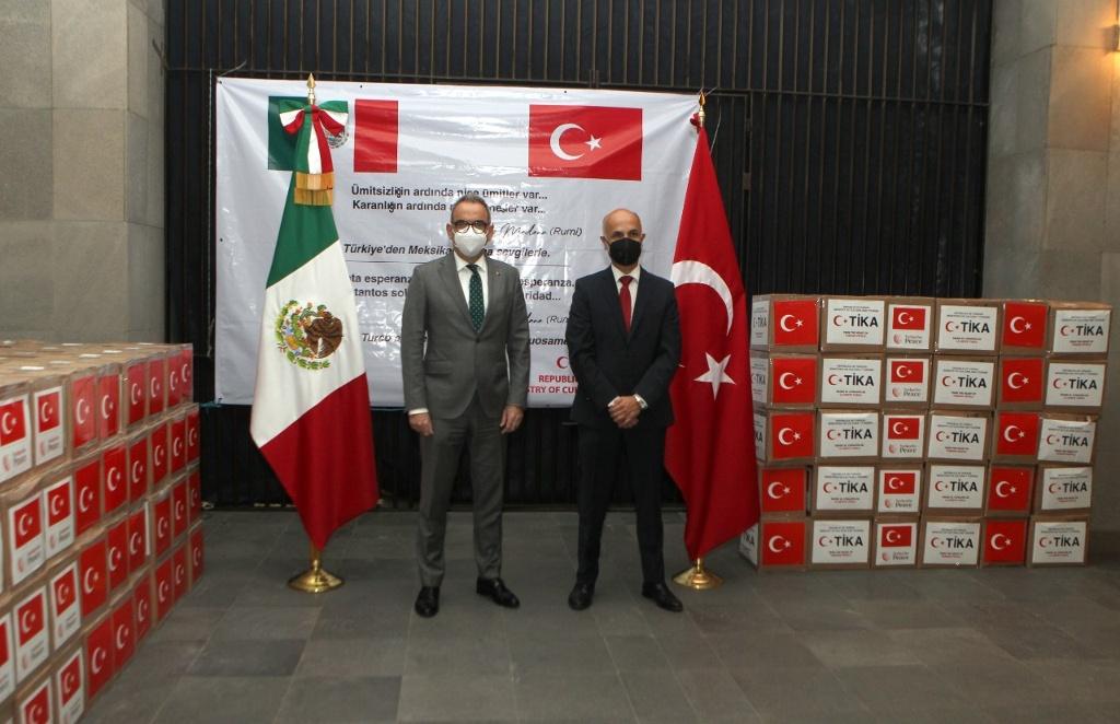 Turquía dona víveres para damnificados por inundaciones en México